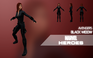 Marvel Heroes: Black Widow (Avengers) by LEMOnz07