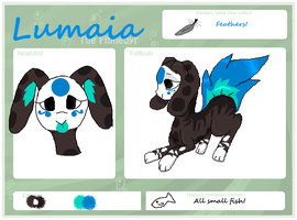 Lumaia ref sheet by KoNekoBoo