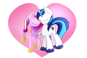 Valentine's Day Cadence and Shining Armor by vcm1824