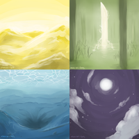 Backgrounds by more-or--less