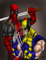 Deadpool Wolverine Complete by D-Stone