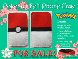 Pokeball Felt Phone Case by TealCreations