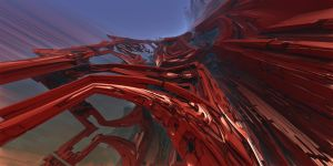 Crimson Convolutions 1 by MarkJayBee