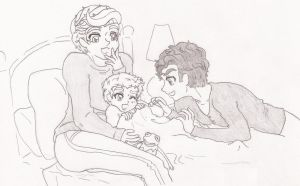 Klaine Papa Rory Bed Time by HOSHIDESS