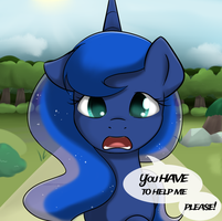 Luna's Plea by Poinger