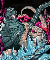 Godzilla vs GINO by monsterartist