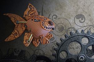 Steampunk Goldfish II by FauxHead