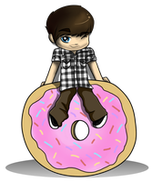 Ian and the big donut by Muketti