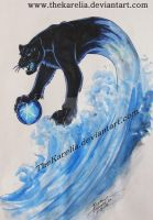 Water Panther Design by TheKarelia
