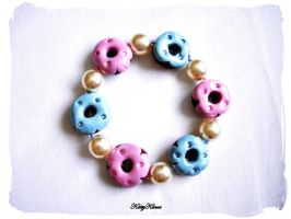 Sweet Donut Bracelet by Cateaclysmic