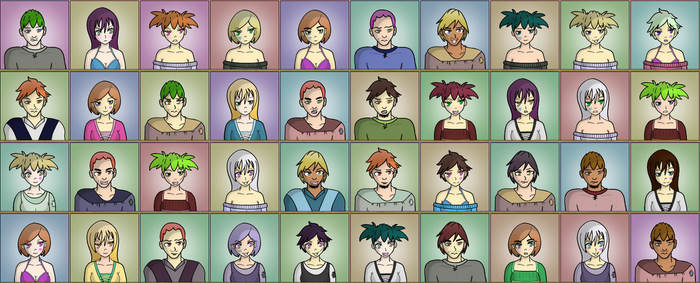 Portrait system for Exile of Aphrodisia by MizuhoTF