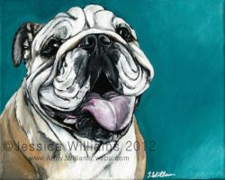 Bulldog by NakedKittyCreations