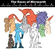 The Races of Mirroearth by Raccooncube