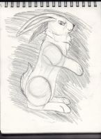 Fun from Sketchbook: Rabbit by Monanico