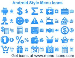 Android Style Menu Icons by Ikont