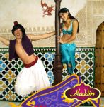 Aladdin and Jasmine Cosplay by rainbowfishes