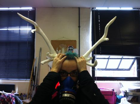 Antler test piece by RobynGoodfellow