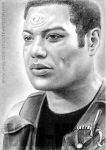 Christopher Judge miniature by whu-wei