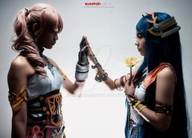 Serah and Yeul ~Final Fantasy XIII-2 by kyashii4