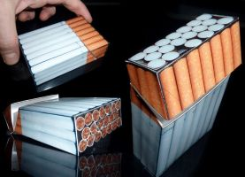 Invisible Cigarette Pack by NicoSmiley