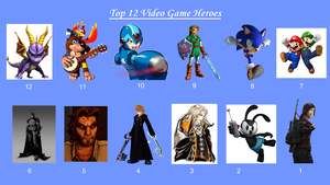 REDONE: Top 12 Video Game Heroes by JJHatter