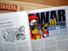Latuff in a Greek magazine by Latuff2