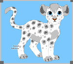 Stardust the White Leopard by SassyDragon18
