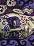 Day of the Dead Girl painting 2 by rawjawbone