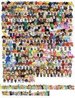 Cosplay Scramble Magnet Chibis (Now 289!) by cosplayscramble