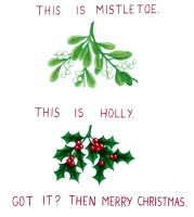HOLLY IS NOT MISTLETOE by FireFiriel
