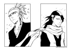 Sketch: Renji and Byakuya by Sideburn004