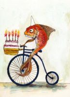 Birthday Fish Rides Again by GregoryStephenson