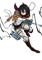 Render Mikasa Ackerman by FlowEditions