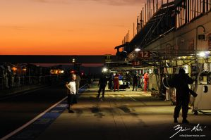 Sunset on Hungaroring no.2 by BobbiWorks