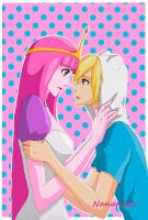 Finn and Princess Bubblegum (2) - Adventure Time by Nanaruko
