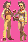 Gijinka - Applejack by emlan