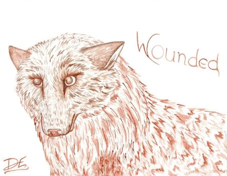 Bleeding Wounded by WolfOnSilentWings
