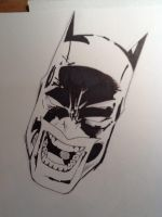 Pencil  inked batman by Scottheneghan