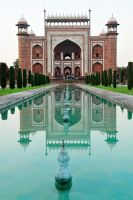 Taj Mahal gatehouse 1 by wildplaces