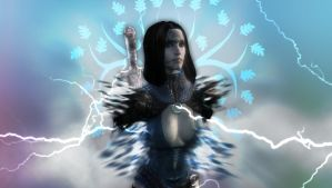 Gift: Dalish Elf Wallpaper by Stealthero