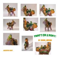 Custom MLP - Turtles on a pony by BlackAngel-Diana