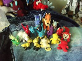 my neopet plushies by legendarydragonstar