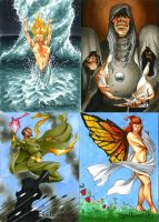 Spellcasters Sketch Cards 05 by RichardCox