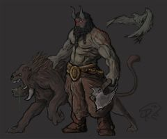 Karroch, the Beastmaster by Halycon450