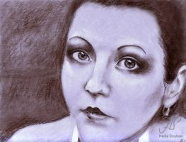 Portrait of a woman by Nadschi