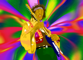 Jimi Hendrix by JohnnyRocker666