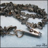 Dark Grey Badge Holder Lanyard by 1337-Art