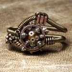 Steampunk Clock parts ring by CatherinetteRings