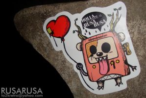 RusaRusa sticker by To2kRetro