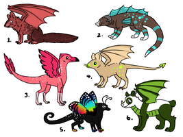 Dragon Adopts 3 ONE LEFT by AbwettarAdopt